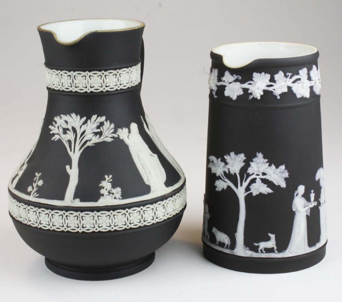 Wedgwood black dip Jasperware Etruscan and Trojan - 2