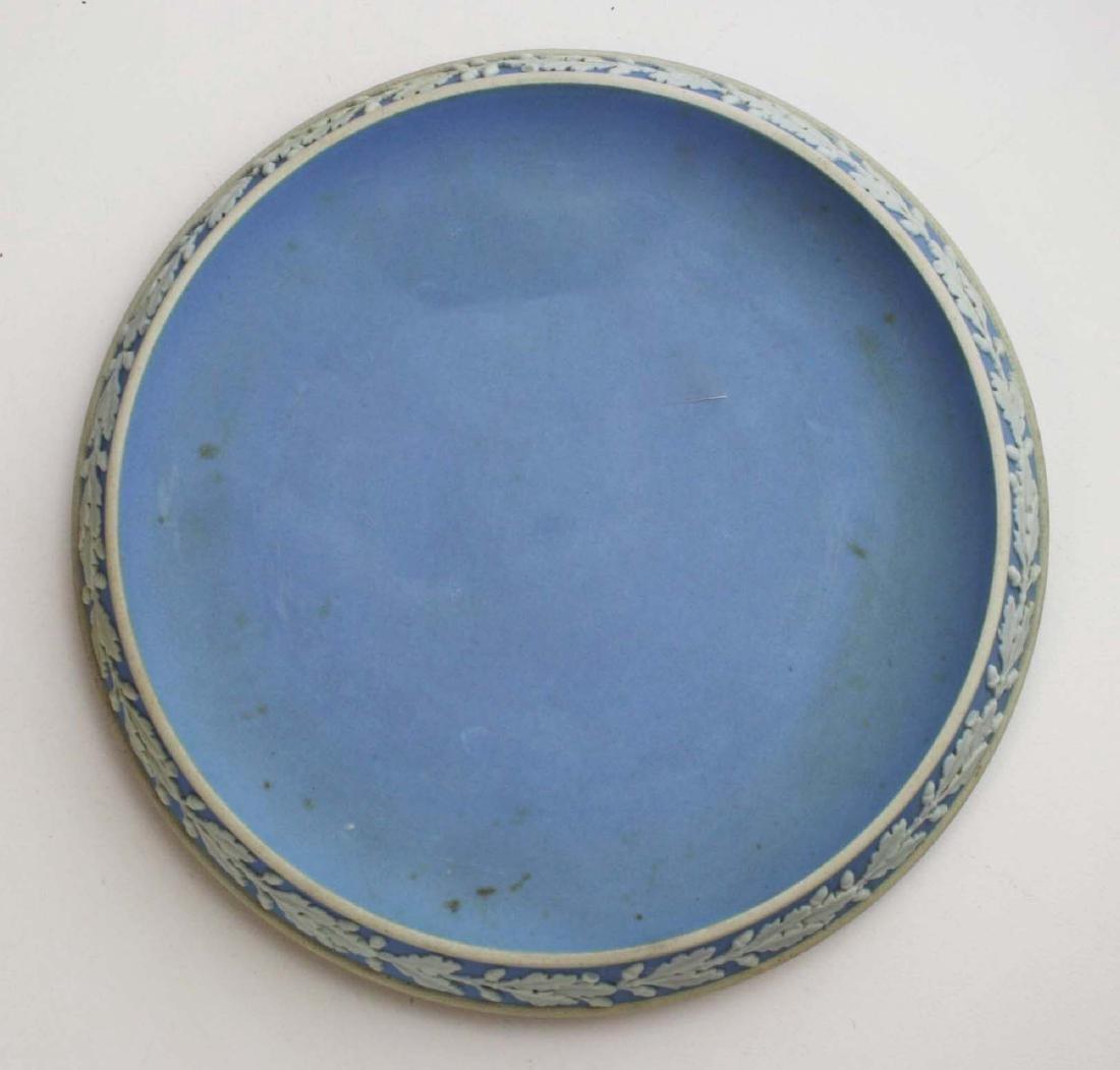 Wedgwood solid pale blue Jasperware 3pc tea set - 6