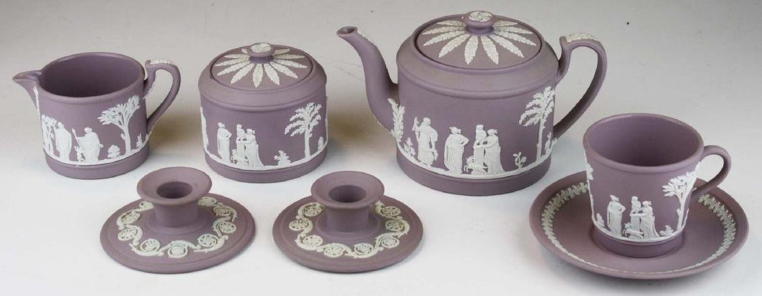 6 pcs. Wedgwood solid Lilac Jasperware pottery