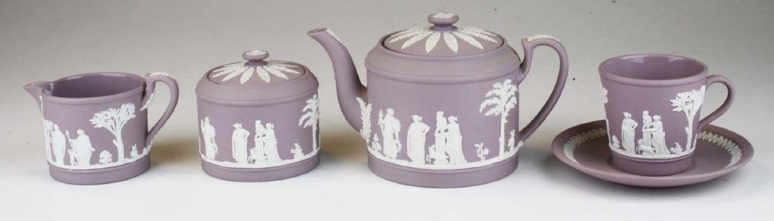 6 pcs. Wedgwood solid Lilac Jasperware pottery - 2