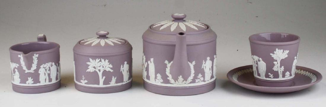 6 pcs. Wedgwood solid Lilac Jasperware pottery - 3