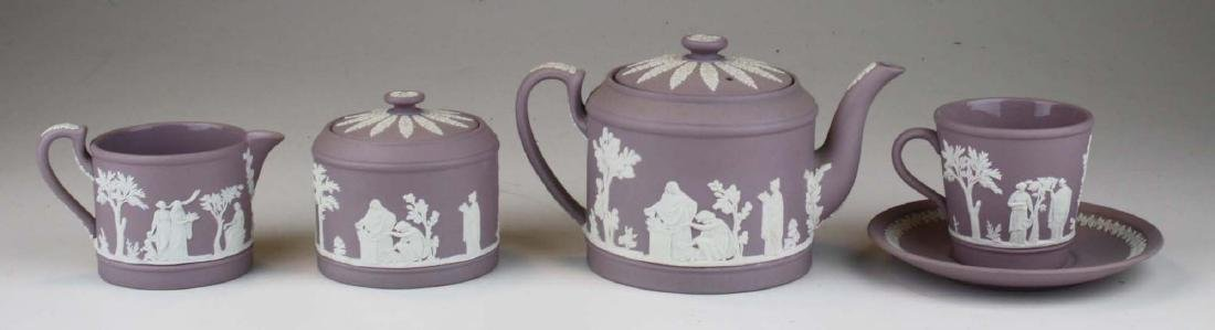 6 pcs. Wedgwood solid Lilac Jasperware pottery - 4