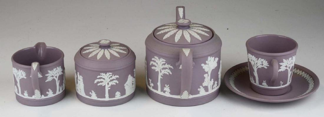 6 pcs. Wedgwood solid Lilac Jasperware pottery - 5