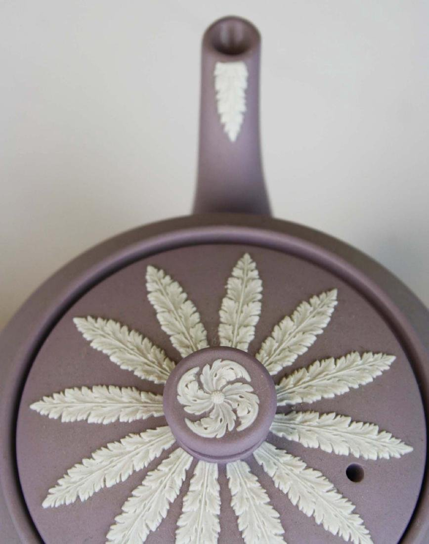 6 pcs. Wedgwood solid Lilac Jasperware pottery - 7