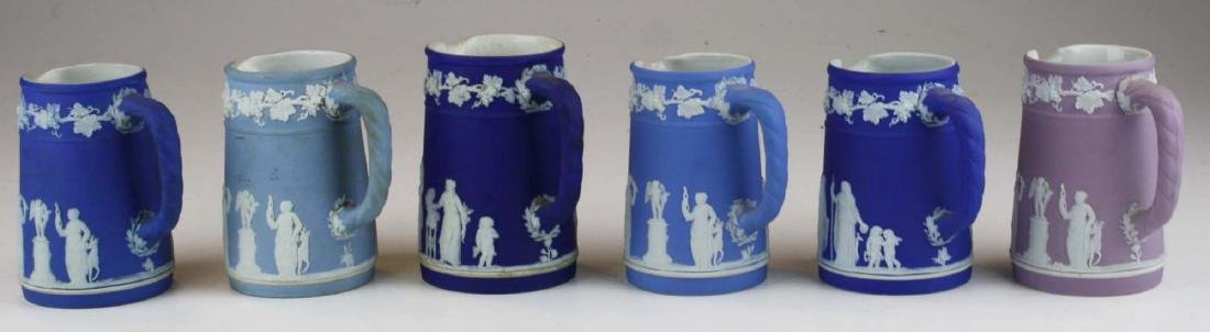6 small Wedgwood  Jasperware Trojan jug cream pitchers - 2