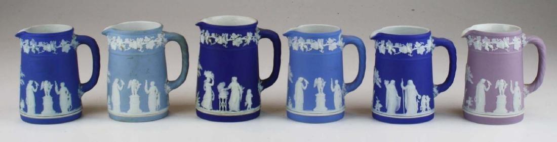 6 small Wedgwood  Jasperware Trojan jug cream pitchers - 3