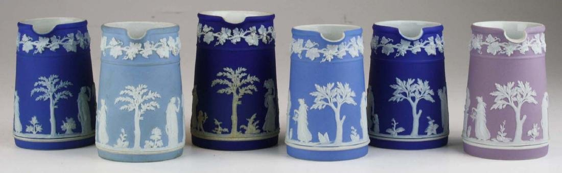 6 small Wedgwood  Jasperware Trojan jug cream pitchers - 4