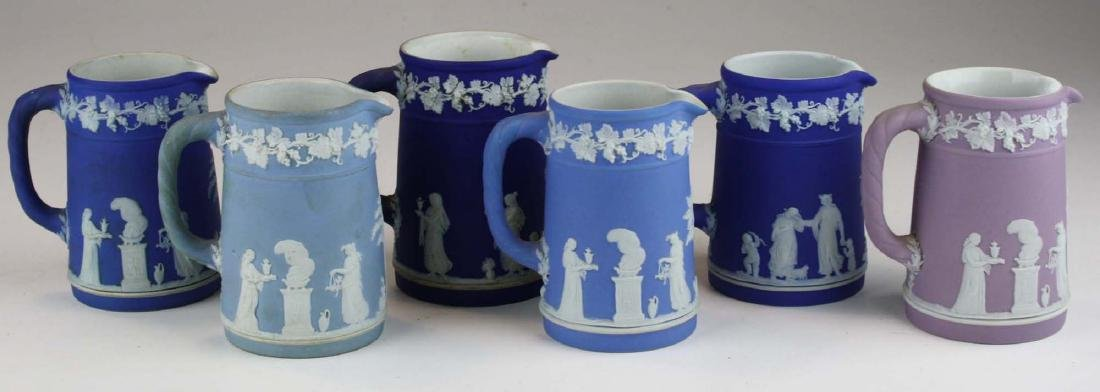6 small Wedgwood  Jasperware Trojan jug cream pitchers - 5