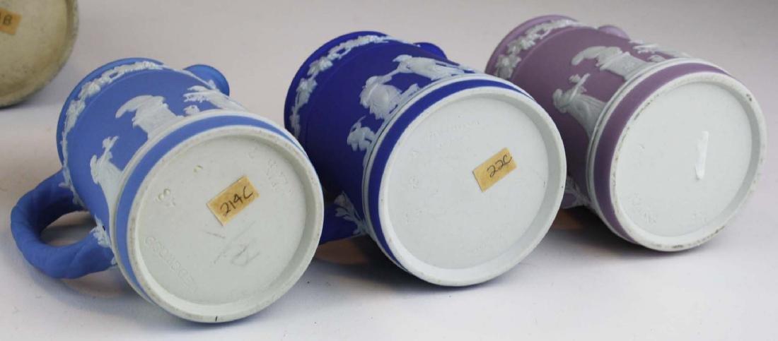 6 small Wedgwood  Jasperware Trojan jug cream pitchers - 6