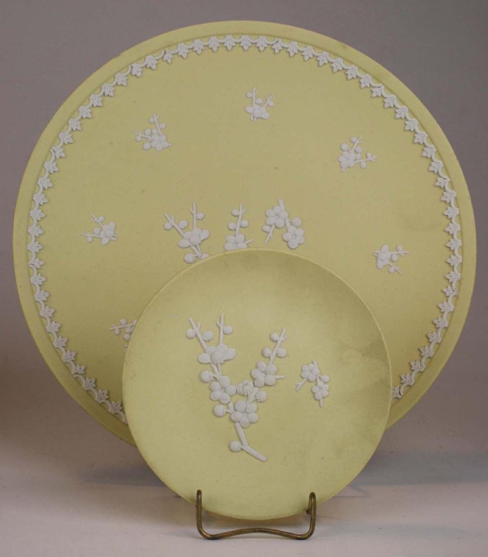 10 pcs Wedgwood primrose yellow Jasperware with Prunus - 2