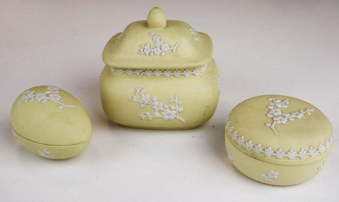10 pcs Wedgwood primrose yellow Jasperware with Prunus - 3