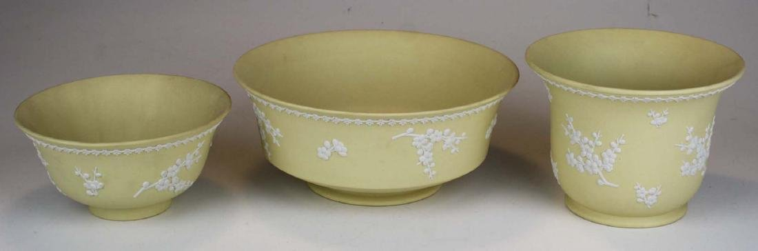 10 pcs Wedgwood primrose yellow Jasperware with Prunus - 4