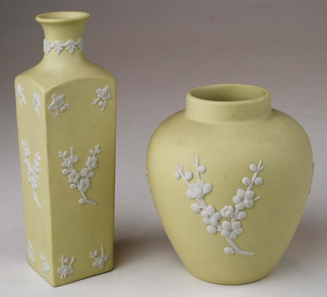 10 pcs Wedgwood primrose yellow Jasperware with Prunus - 5