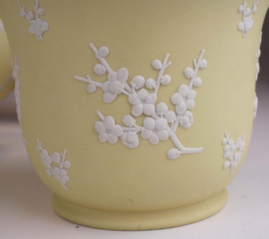 10 pcs Wedgwood primrose yellow Jasperware with Prunus - 6
