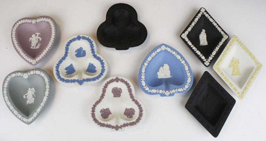 19 Wedgwood Jasperware pottery pin trays, some in - 2