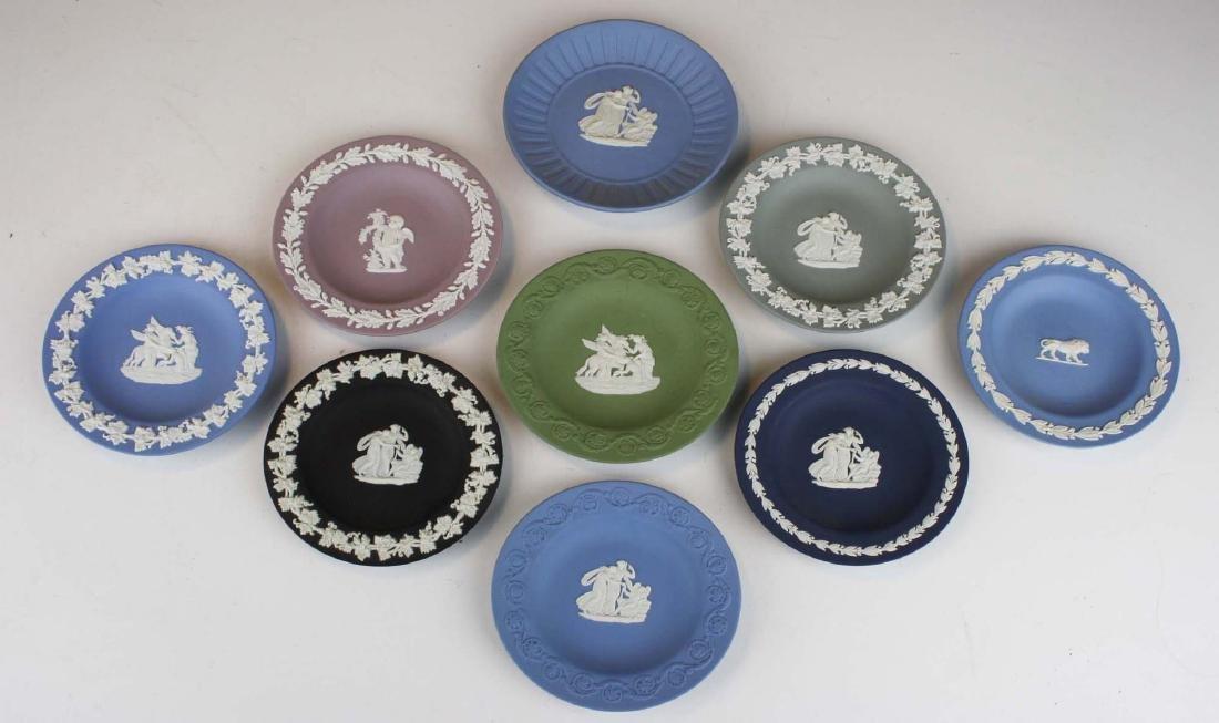 19 Wedgwood Jasperware pottery pin trays, some in - 3