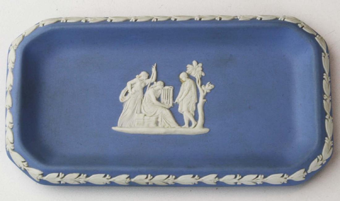 19 Wedgwood Jasperware pottery pin trays, some in - 4