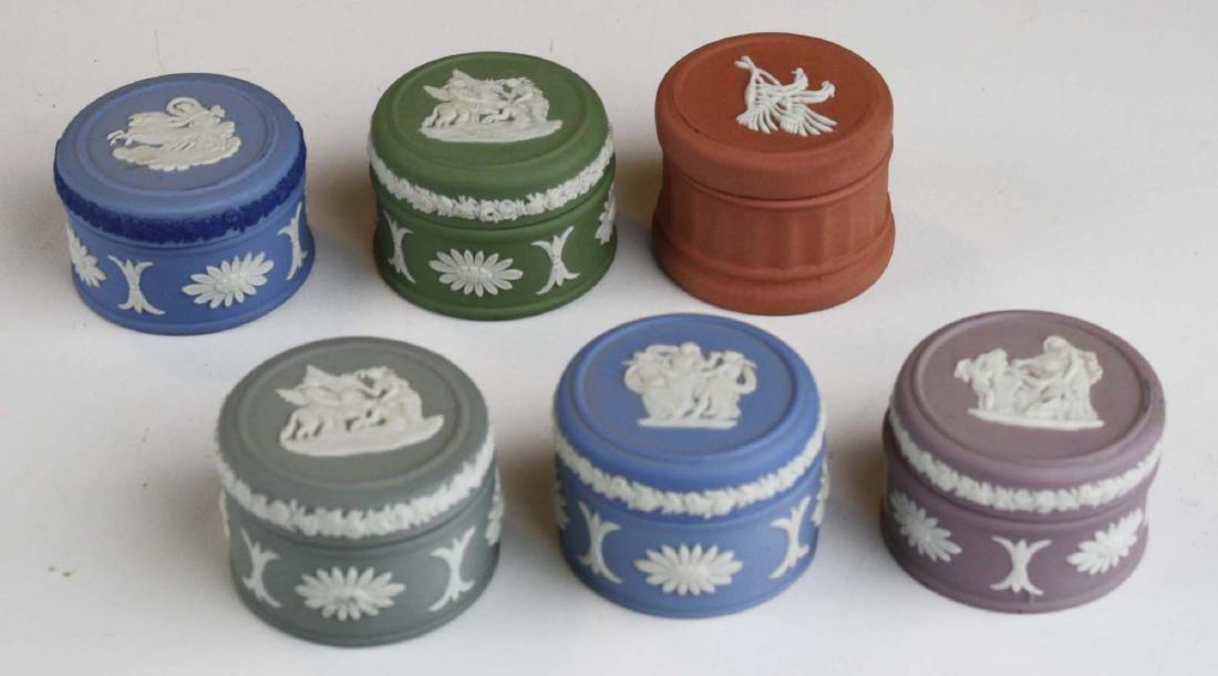 15 Wedgwood Jasperware covered boxes including - 5