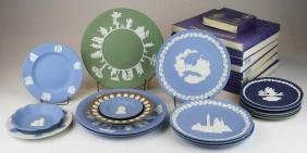 24 various Wedgwood Jasperware plates and dish
