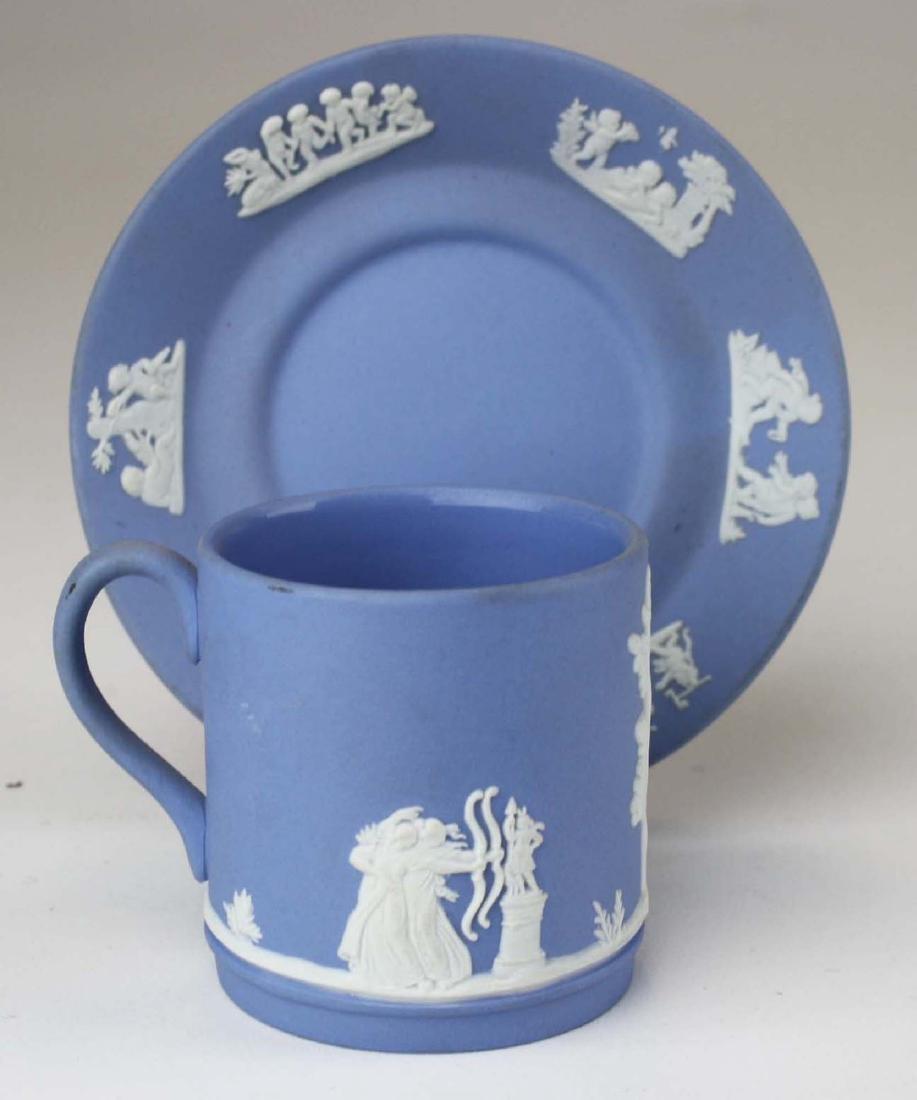 18 pcs. Wedgwood pale blue Jasperware tableware incl. - 7