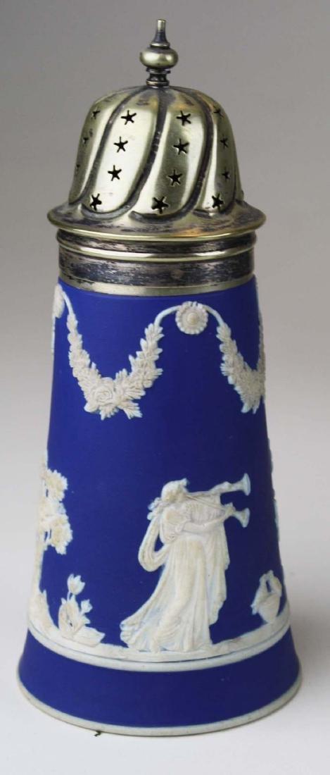 12 pcs Adams England cobalt blue dip Jasperware pcs - 3