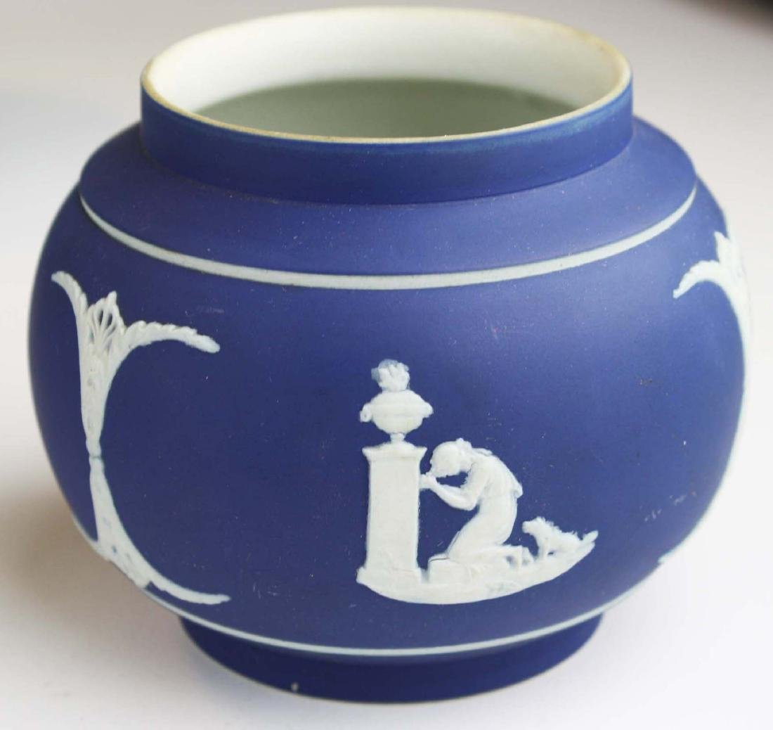 12 pcs Adams England cobalt blue dip Jasperware pcs - 4