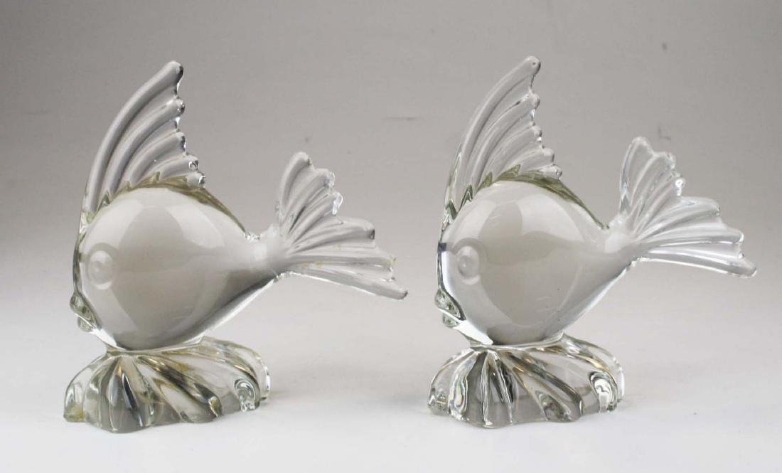 3 pair of mid-century Murano glass mantel figures or - 4