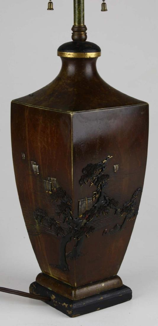 Japanese mixed metals vase/ lamp