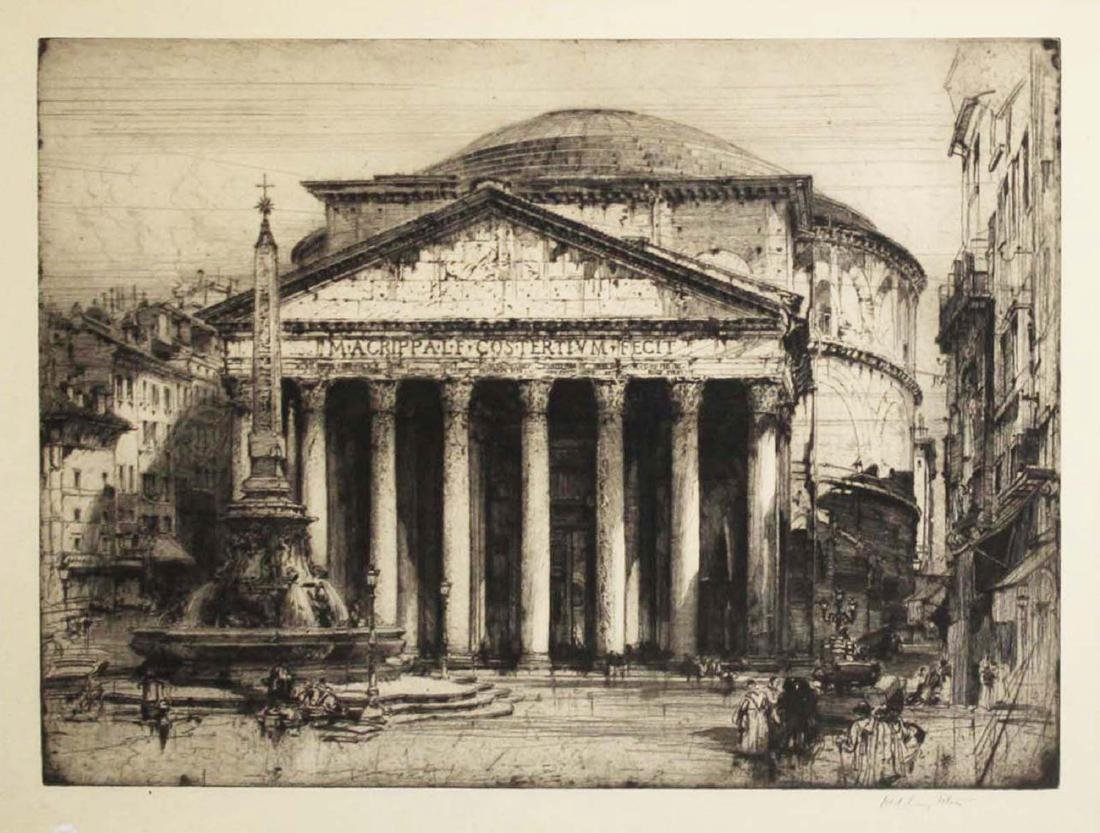 Hedley Fitton (English 1859-1929) Pantheon Rome