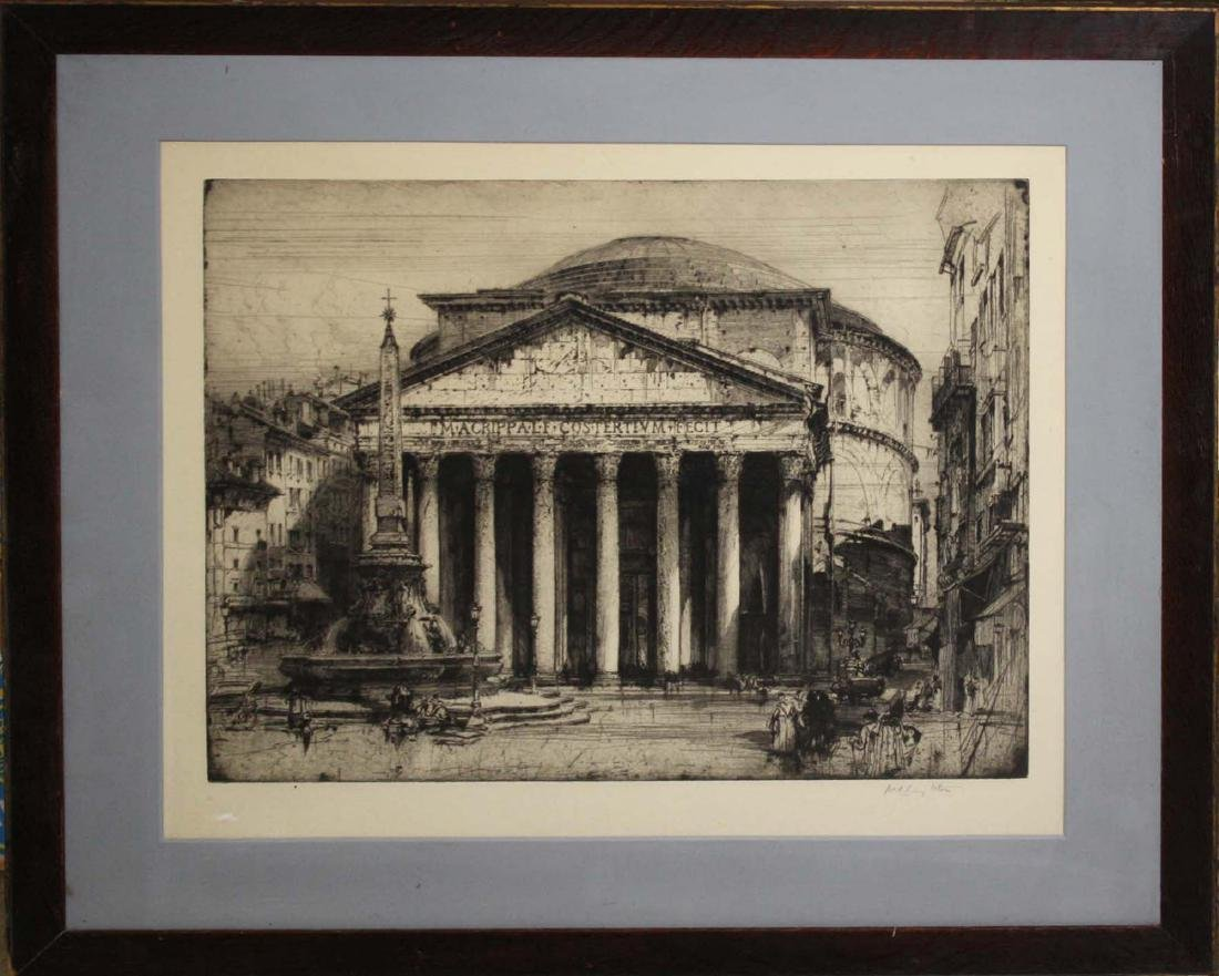 Hedley Fitton (English 1859-1929) Pantheon Rome - 2