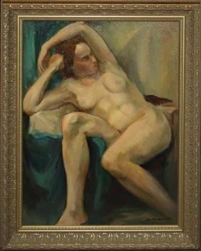 Joseph Mueller (Vermont 1924-2007) Supine nude