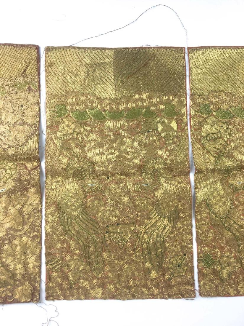 Group of 4 Chinese 19th c Qing Dynasty overall silk - 2