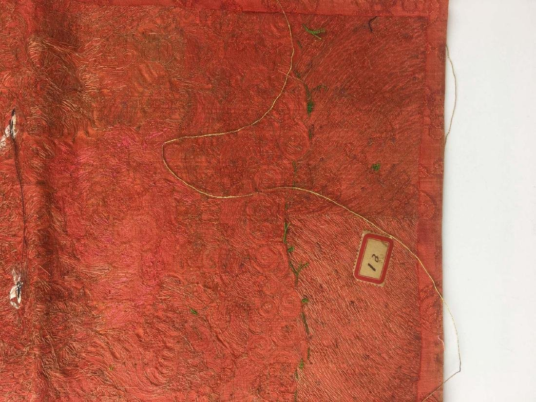 Group of 4 Chinese 19th c Qing Dynasty overall silk - 4