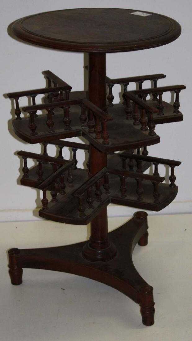 late 19th c English mahogany revolving bookcase