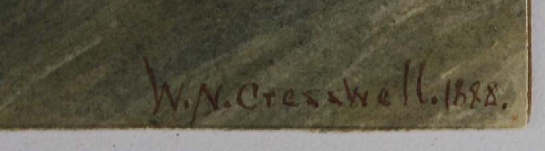 1888 Wm Nichol Cresswell w/c wreck on a shoreline - 2