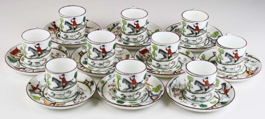 10 Crown Staffordshire bone china Tally-Ho demitasse