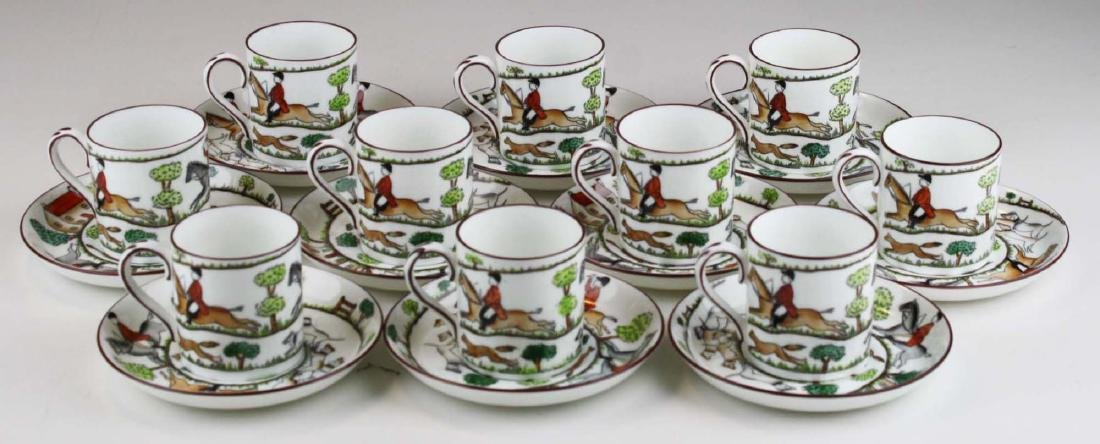 10 Crown Staffordshire bone china Tally-Ho demitasse - 2