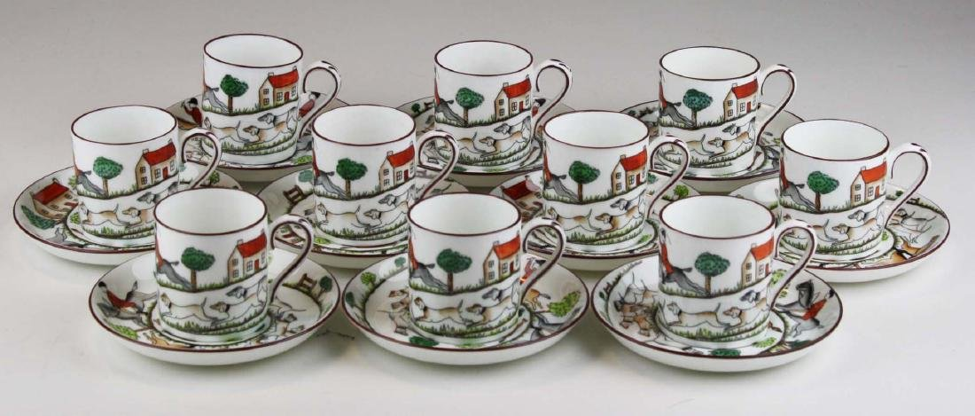 10 Crown Staffordshire bone china Tally-Ho demitasse - 3