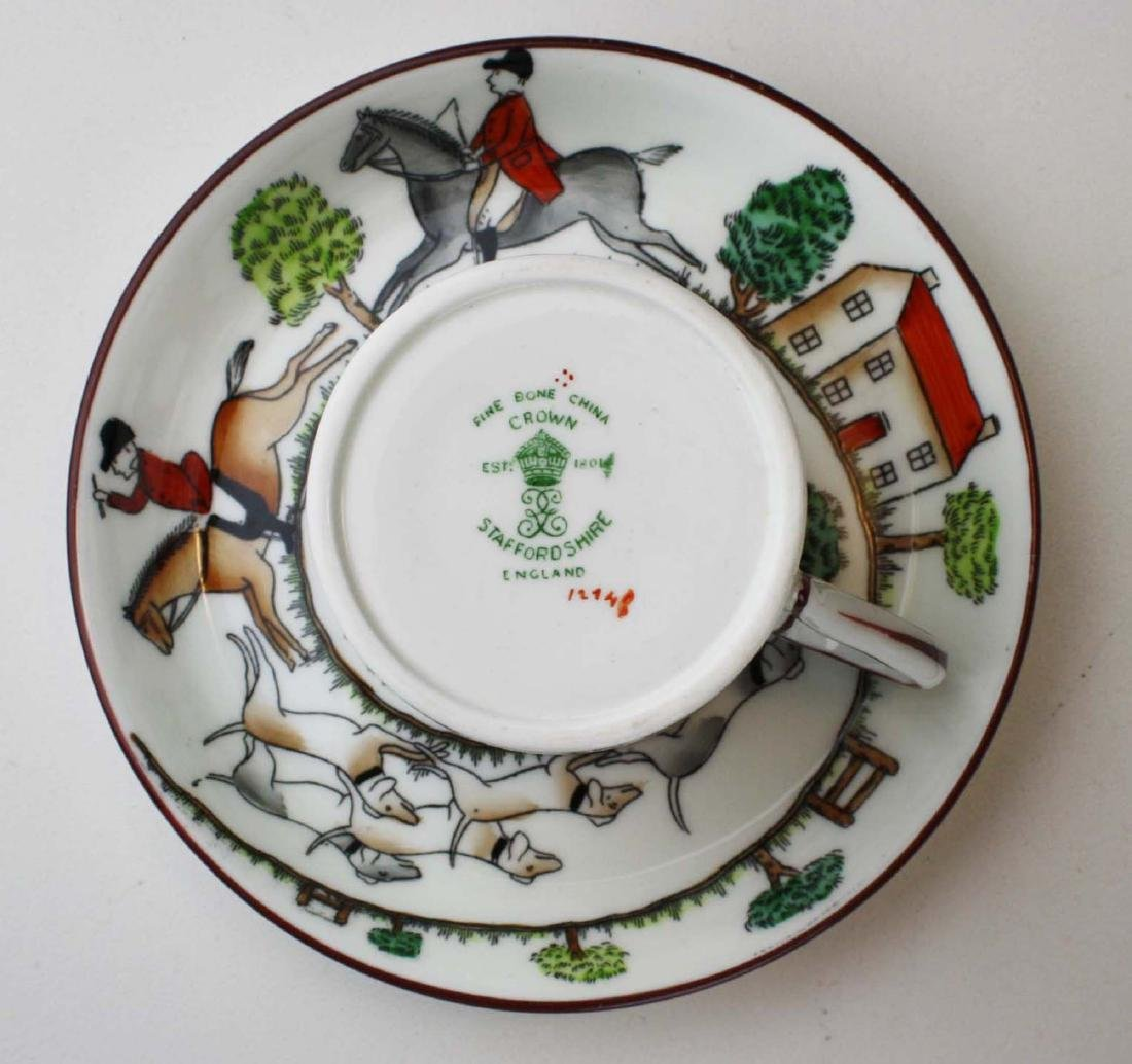 10 Crown Staffordshire bone china Tally-Ho demitasse - 4