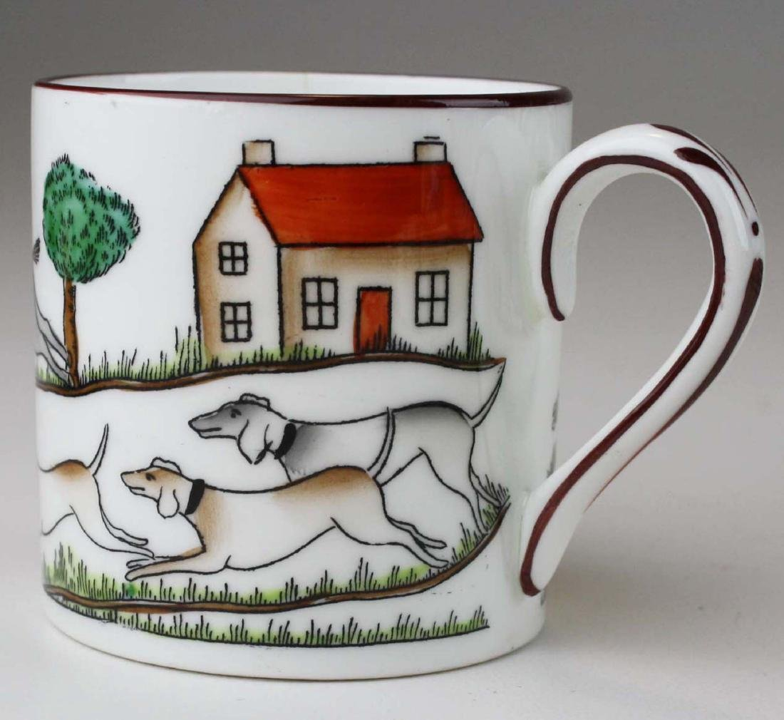 10 Crown Staffordshire bone china Tally-Ho demitasse - 7