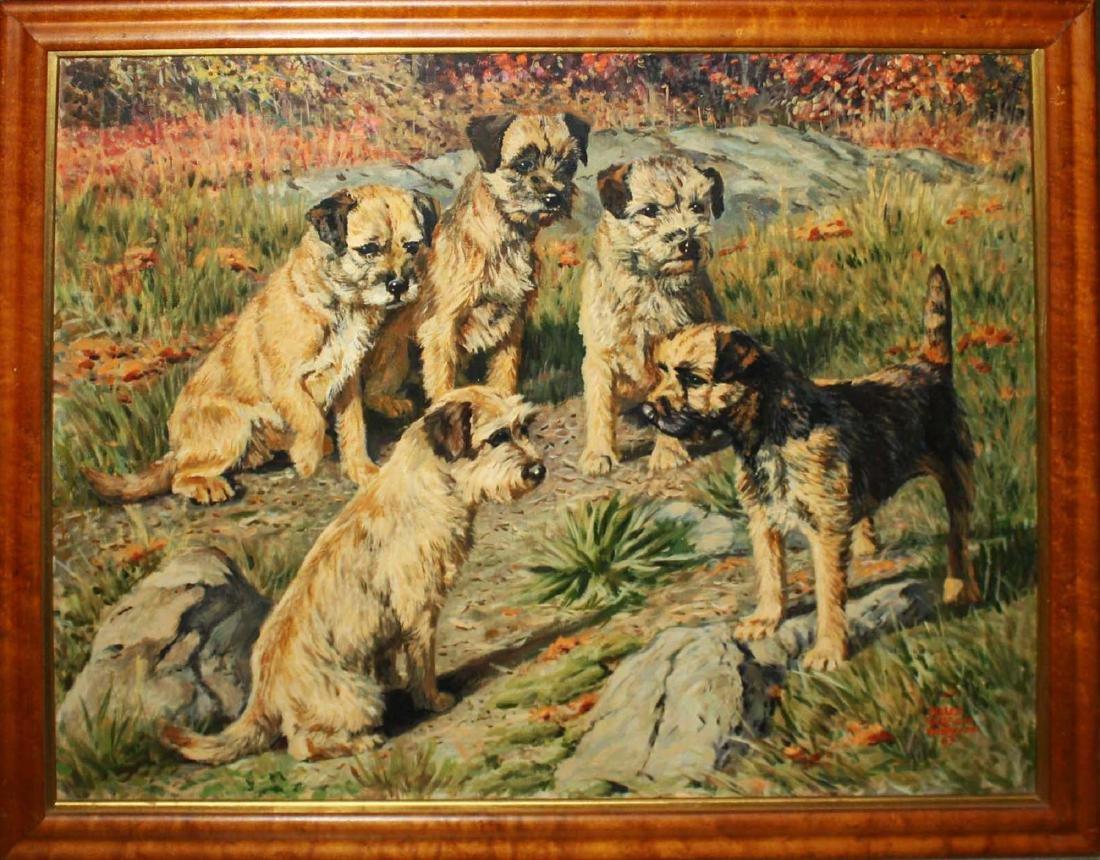 Helen Wilson Sherman (American 1913-2005) Five Terrier - 2