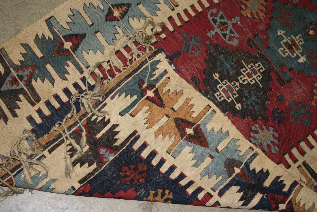 late 19th- early 20th c flatwoven tribal kilim - 3