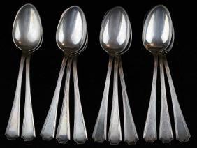 11 Durgin sterling silver teaspoons