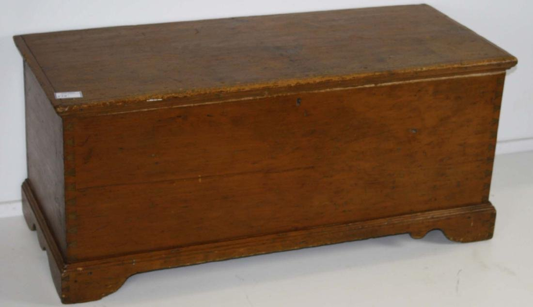 19th c Quebec pine blanket box