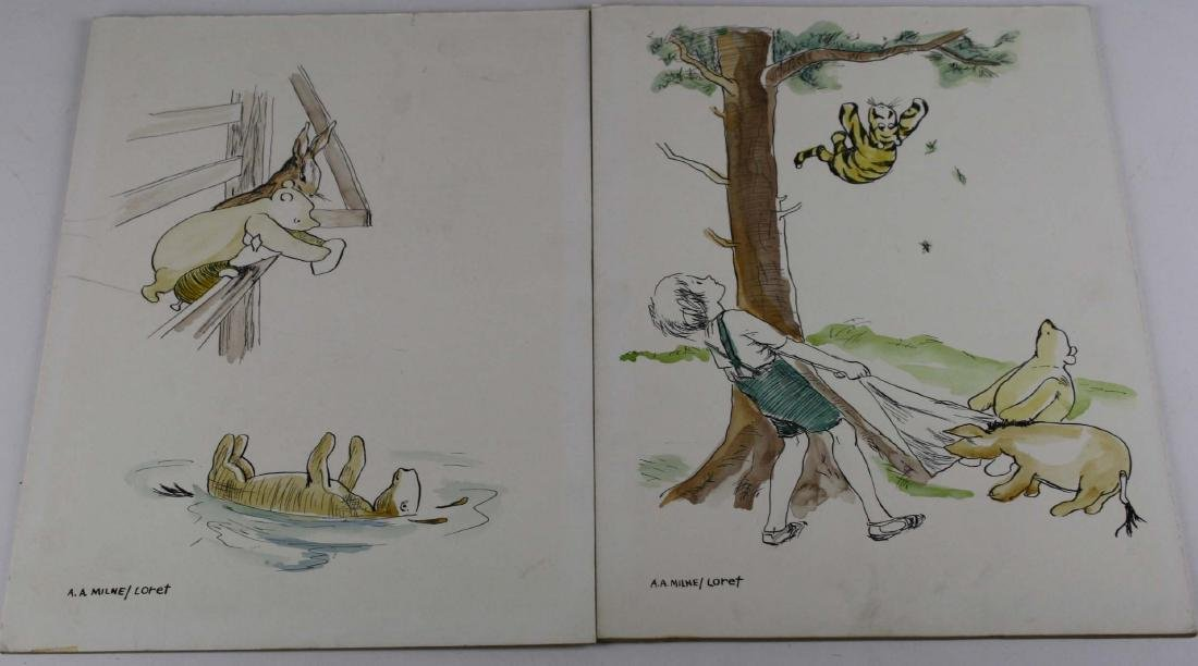 Two pen and ink Illustrations for Winnie the Pooh