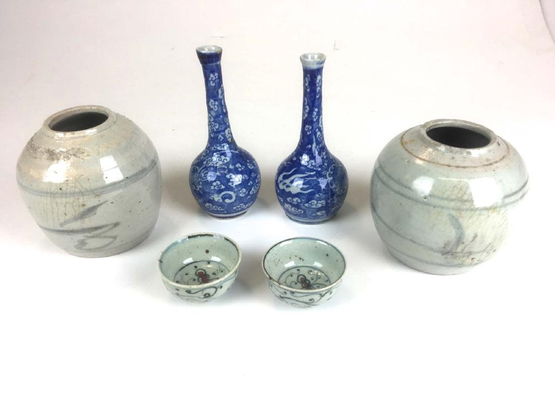 Lot of 6 Chinese ceramics