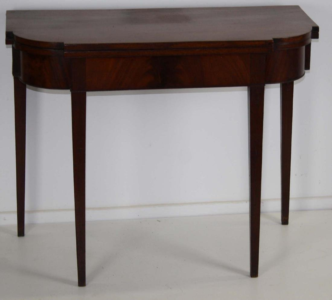 Hepplewhite mahogany card table