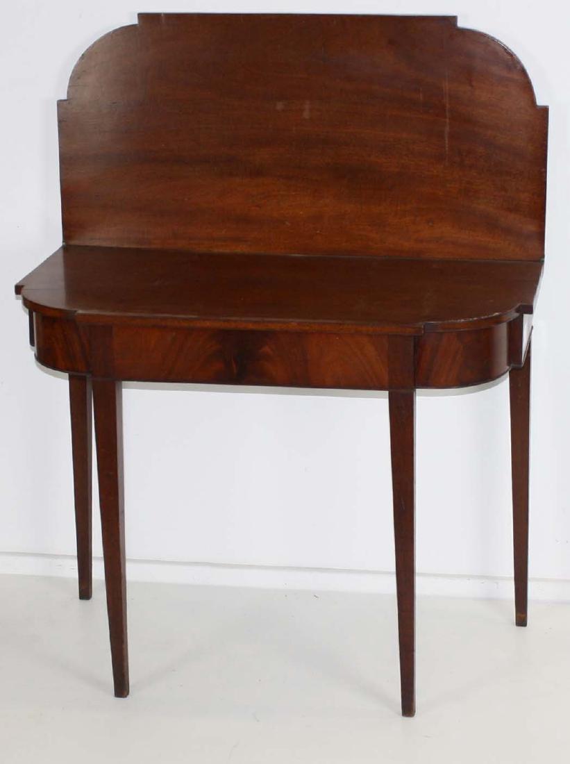 Hepplewhite mahogany card table - 2