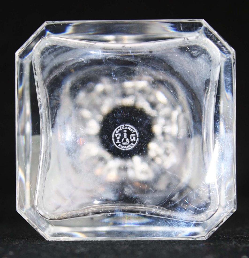 Baccarat Harcourt or Perfection signed crystal square - 4