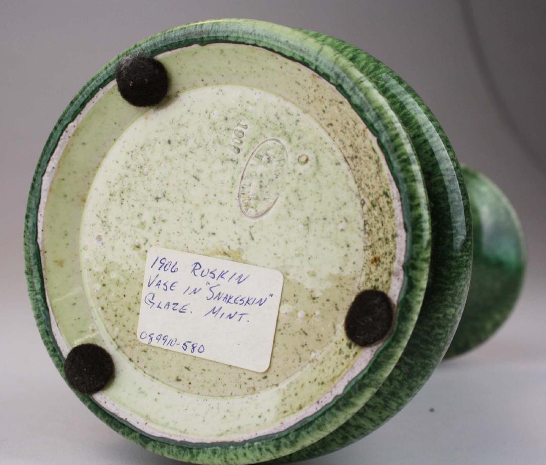 1906 Ruskin vase in snakeskin glaze - 5